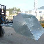 Forklift 3 ton me kovë, kovë hidraulike